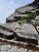Rock Climbing Photo: Starting the 11 section. Greg had 2 brass nuts, th...
