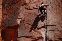 Rock Climbing Photo: Moving through the thin stuff