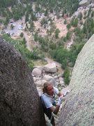 Rock Climbing Photo: Katherine Chumacero on the finishing moves of MRC ...