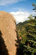 Rock Climbing Photo: East Egg - Shaun Weller on West Face Traverse (V0)...