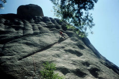 Rock Climbing Photo: Linking the Left Side and Right Side variation.