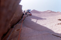 Rock Climbing Photo: Bill Leads 5.9 crack
