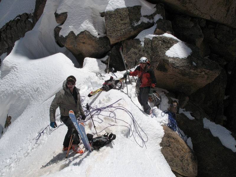 Rock Climbing Photo: Ski conditions on May 30, 2008.