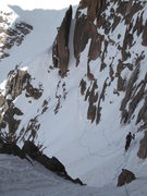 Rock Climbing Photo: Skiing back across Broadway to Lamb's Slide on May...