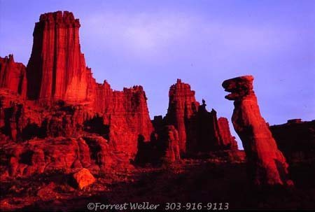 Sunset on The Fisher Towers