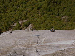 Rock Climbing Photo: Trask Bradbury on Pitch 5 of Freeblast