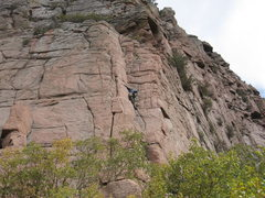 Rock Climbing Photo: The first pitch of Thombstone West Face Traverse. ...