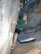 Rock Climbing Photo: Flower Pot Left (V1), Black Mountain