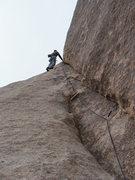Rock Climbing Photo: False Rat Ledge (5.8), Joshua Tree NP