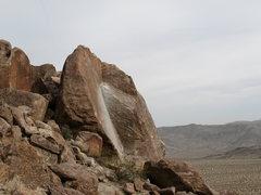 Rock Climbing Photo: Looking downhill at Goldfinger Rock, Joshua Tree N...