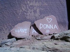 Rock Climbing Photo: This great line's plaque needed a little fixing up...