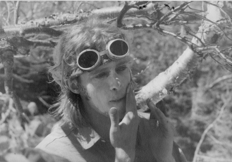 Baxter State Park, Maine: 1969<br> <br> Slathering on zinc oxide ointment before my first climb -- an ascent of the Chimney Route, a 1,000', 5.5 or 5.6 rock and snow gully on Mt. Kathadin. The friend who led the technical pitches had a little experience, real mountain boots, 120' of goldline, an ice axe, and a few pins. His ducklings had no experience, floppy Dunham work boots, and rented axes. But by the time we returned to camp, I was addicted to climbing.