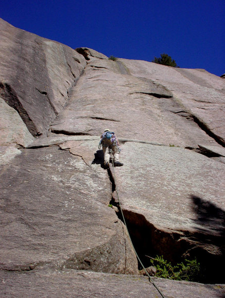 Rock Climbing Photo: This is Scott leading off on Classic Dihedral 6/7/...
