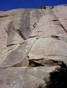 Rock Climbing Photo: Jeff found a rest ledge. Take advantage when you f...
