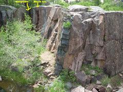 Rock Climbing Photo: Black Ice and Quagmire