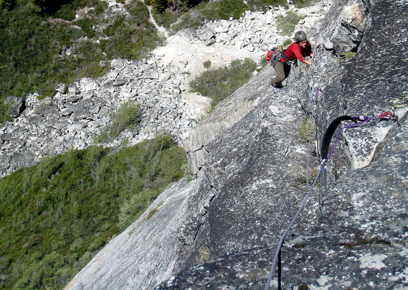 Rock Climbing Photo: Final pitch of Scimitar.