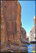 Rock Climbing Photo: Joe Garcia jamming the excellent crack of Stick It...