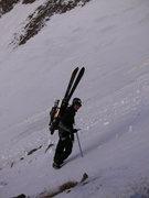 Rock Climbing Photo: Micah Salazar climbing up - great view of the angl...