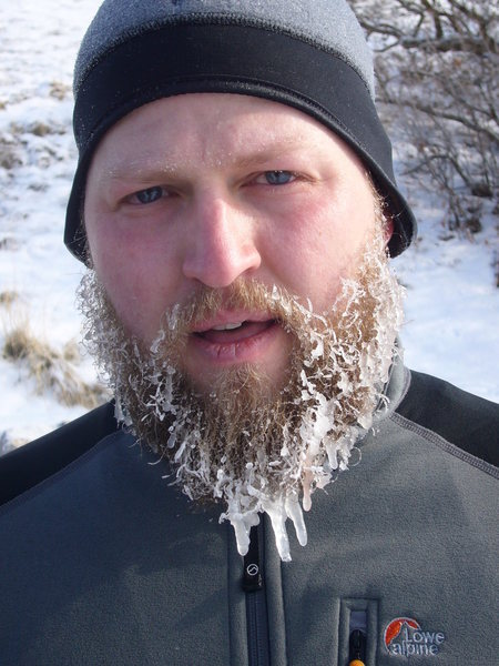 Rock Climbing Photo: Big icy beard - January 2008, Timpanogos Everest R...