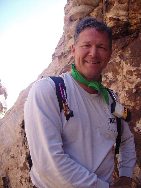 Climbing partner since 1989, clay volmer