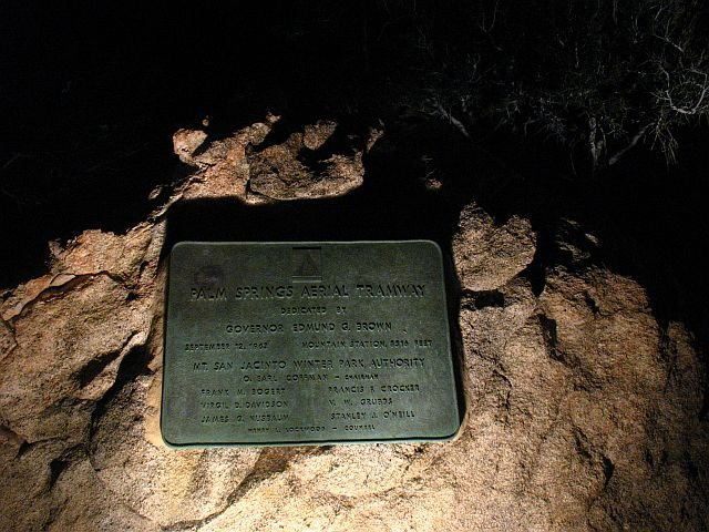 Mountain Station plaque, Tramway