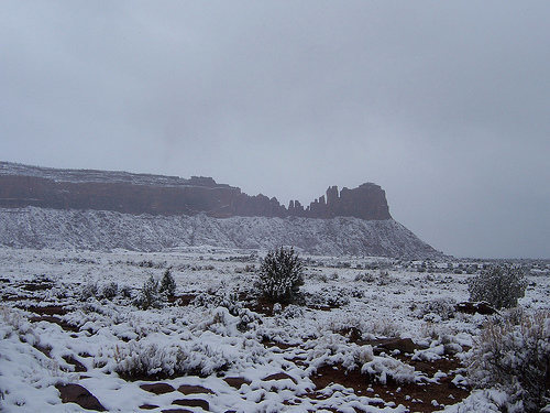 bridger jacks in snow, mid morning sometime in mid March 2008.  It was all gone by that evening.  Climbed the next day!
