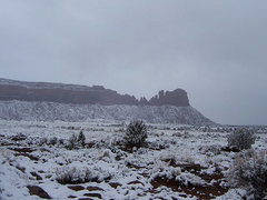 Rock Climbing Photo: bridger jacks in snow, mid morning sometime in mid...