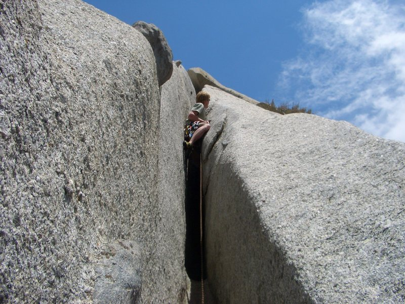 The supposed 5.6 squeeze chimney.