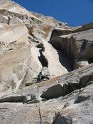 Rock Climbing Photo: Josh leading P4 (as described here) of Astroman wh...