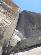 Rock Climbing Photo: Josh well into the Harding Slot.
