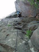 Rock Climbing Photo: Jon leading Inside Corner