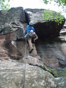 Rock Climbing Photo: Jon on Impossible Crack