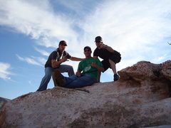 Rock Climbing Photo: me jon and damien at calico basin