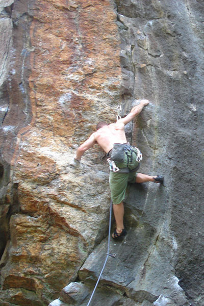 Rock Climbing Photo: This shows the kneebar beta in the crux... photo b...