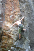 Rock Climbing Photo: This shows the kneebar beta in the crux... photo b...