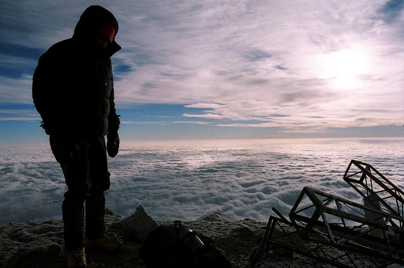 Rock Climbing Photo: On the summit of Citlaltepetl (18,405')