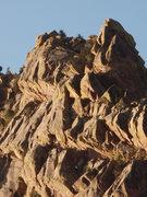Rock Climbing Photo: The West Ridge near Long John Wall at sunset.
