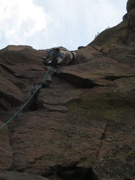 Rock Climbing Photo: The third pitch can be sewn with many stitches.