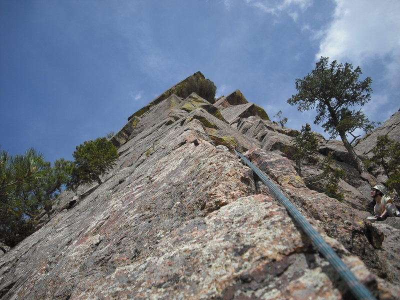 Rock Climbing Photo: A view of the final pitch from Swanson's Arete Pro...