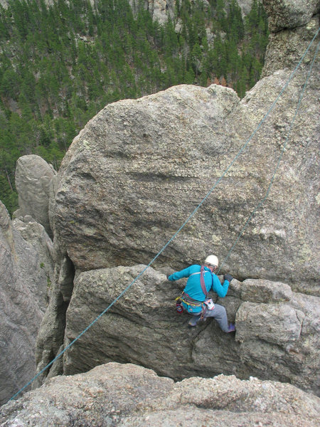 Rock Climbing Photo: spire 7 conn route