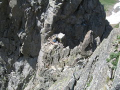 """Rock Climbing Photo: This was our """"second"""" pitch traversing t..."""