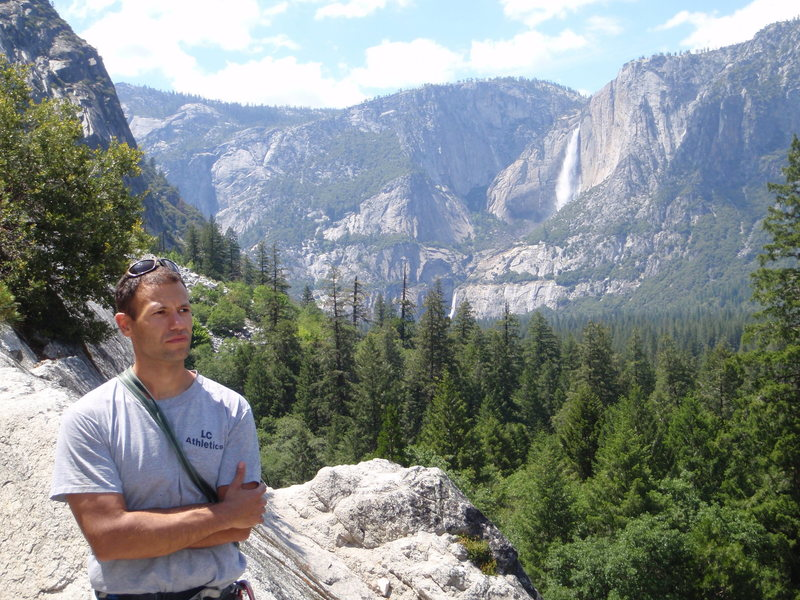 At the Harry Daley Base, Yosemite Valley.