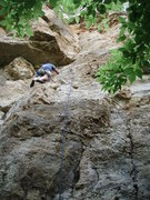 Rock Climbing Photo: Jon leading one of my favorite routes at RW.  I lo...