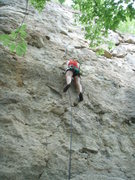 Rock Climbing Photo: Kendra finally getting on Frequent Flatulence afte...