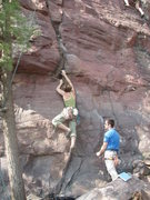 Rock Climbing Photo: Kendra leading