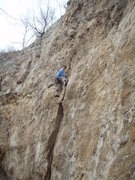 Rock Climbing Photo: Aaron leading