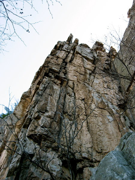 Face of a Thousand Pitons, Seneca Rocks, WV.<br> <br>
