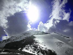 Rock Climbing Photo: This is Diamond Peak in late May. Still snow cover...