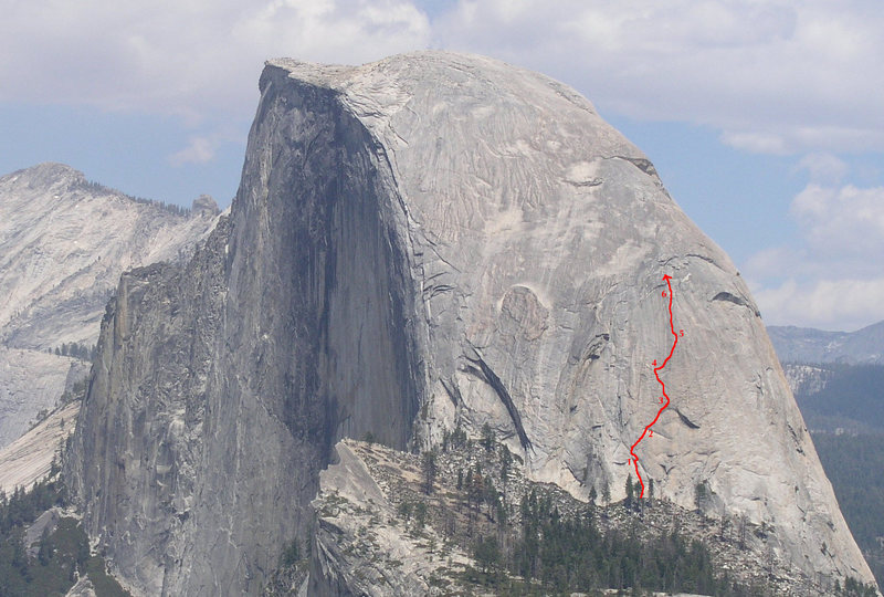 Blondike, SW face of Halfdome