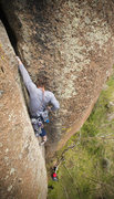 Rock Climbing Photo: Bret enjoying the final jams of this incredible pi...